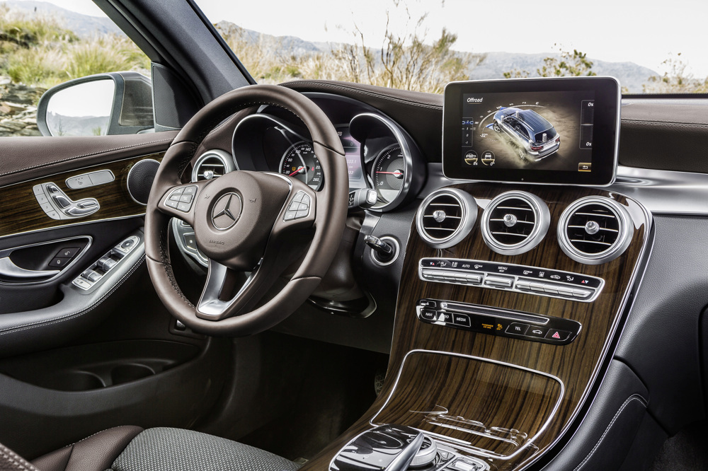 Mercedes-Benz GLC 250d 4MATIC, CITRINBRAUN MAGNO, Artico/Stoff Espresso,  Interieur Mercedes-Benz GLC 220d 4MATIC, CITRINE BROWN MAGNO, Artico/espresso fabric, interior