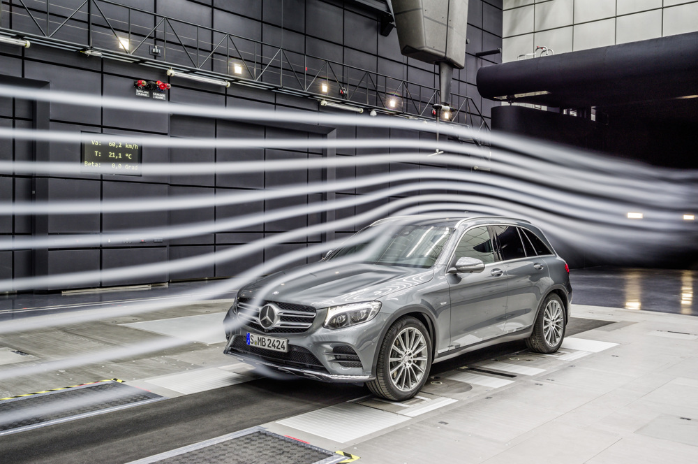 Mercedes-Benz GLC, Aerodynamik Test im Windkanal Mercedes-Benz GLC, aerodynamik testing in the wind tunnel