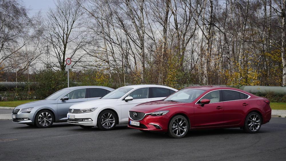 Vergleich_VWPassat_SkodaSuperb_Mazda6-2