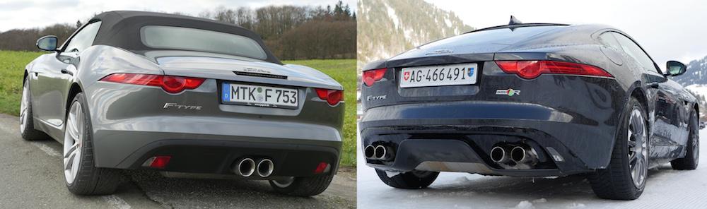 jaguar f-type cabrio v6 mhd vs f-type r coupé v8 awd - autogefühl