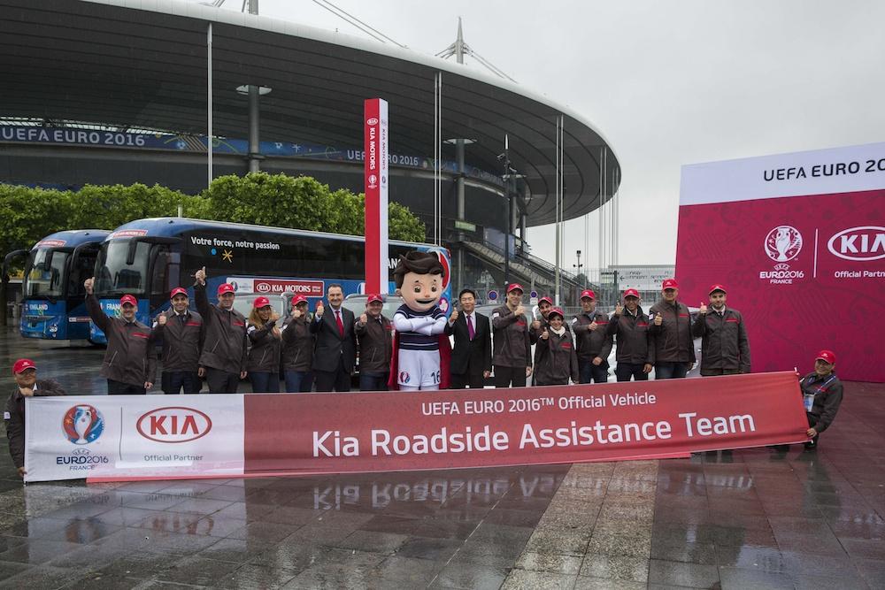 Hyundai & Kia UEFA EURO 2016™- Official Vehicle Handover Ceremony at Stade de France in Paris, France, 30th May 2016. Photo by Gero Breloer/ Hyundai & Kia
