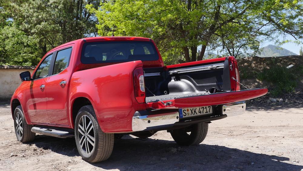 mercedes x klasse pickup testbericht 470 autogef hl. Black Bedroom Furniture Sets. Home Design Ideas