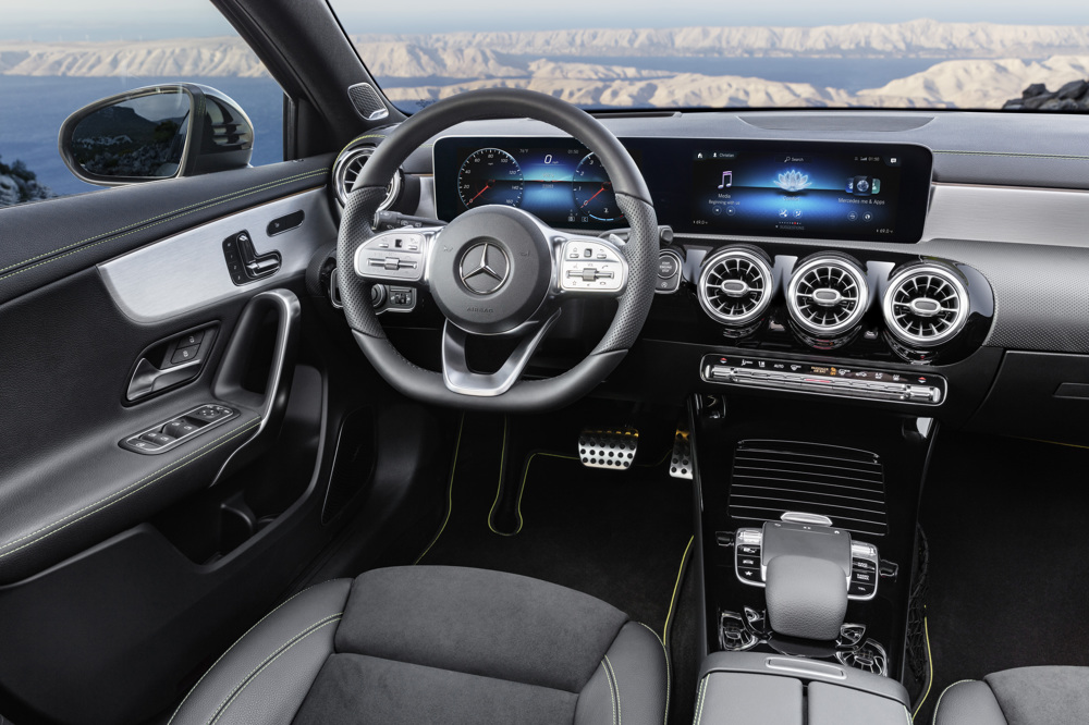 Neue mercedes a klasse 2018 autogef hl for Interieur e klasse