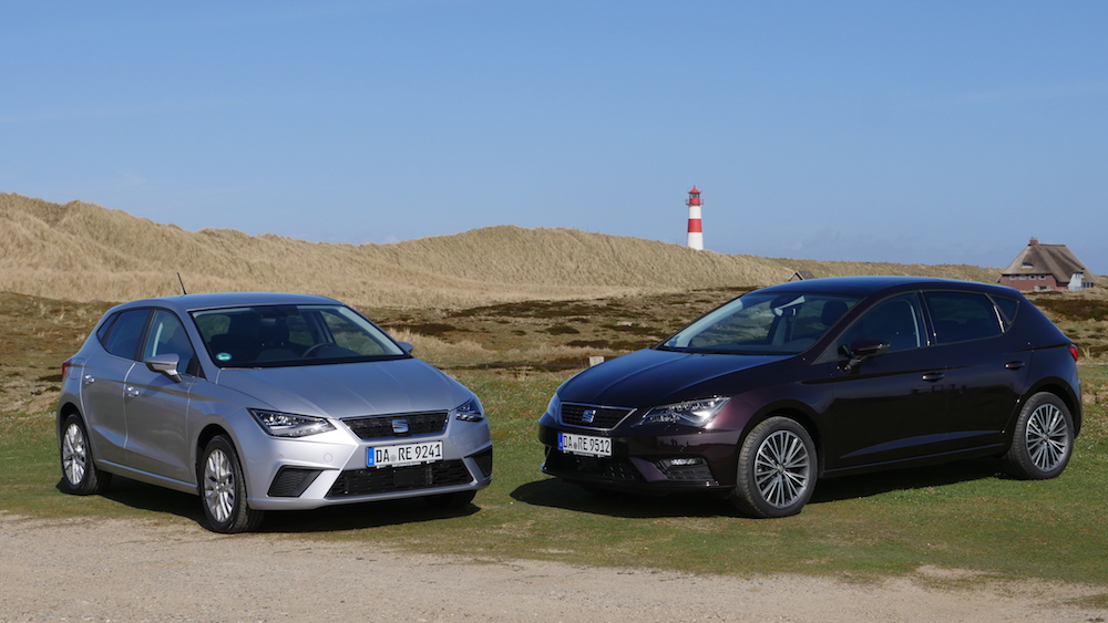 seat ibiza vs seat leon vergleich und tgi erdgas test. Black Bedroom Furniture Sets. Home Design Ideas